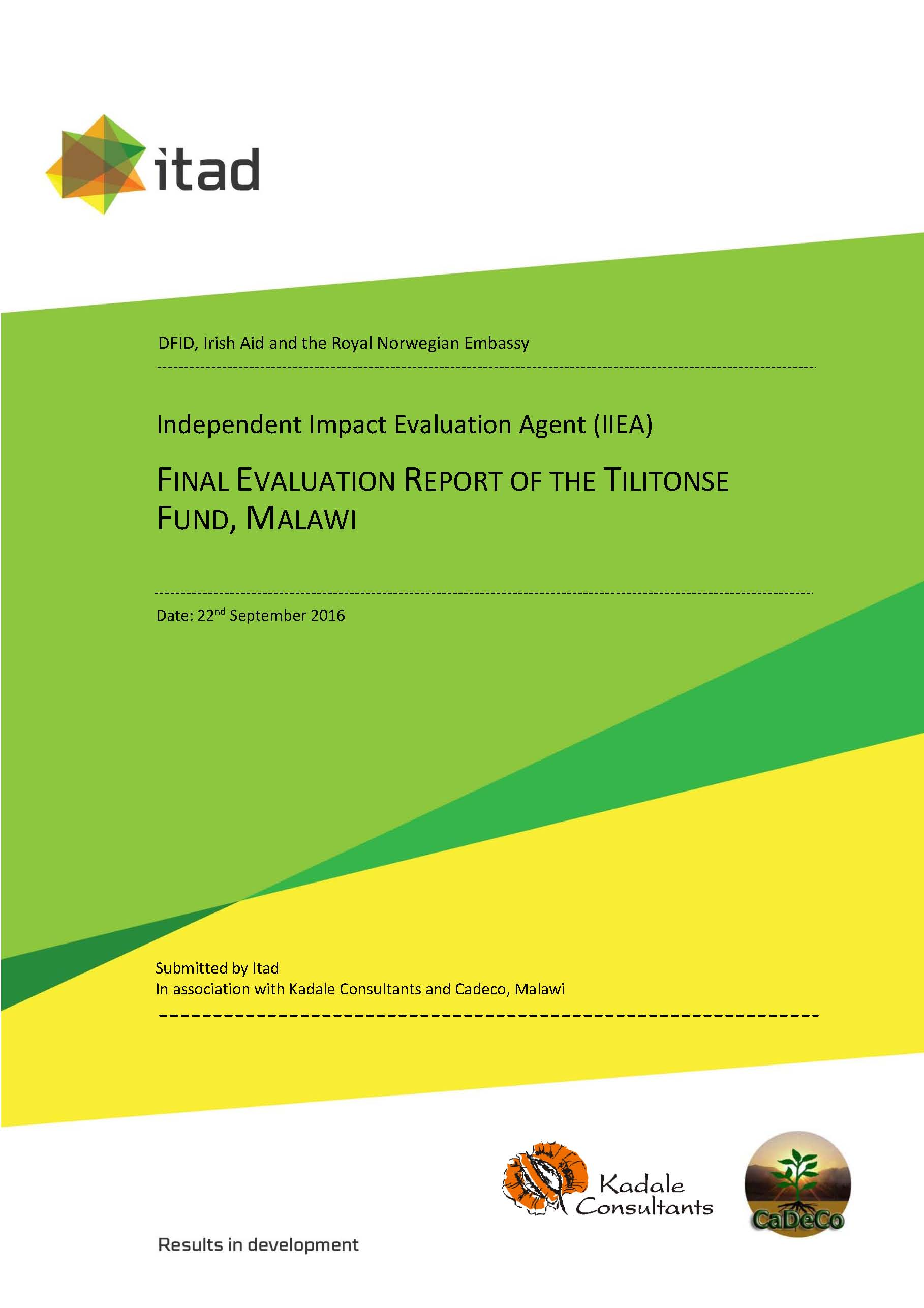 Final evaluation report of the Tilitonse Fund Malawi Itad – Evaluation Report