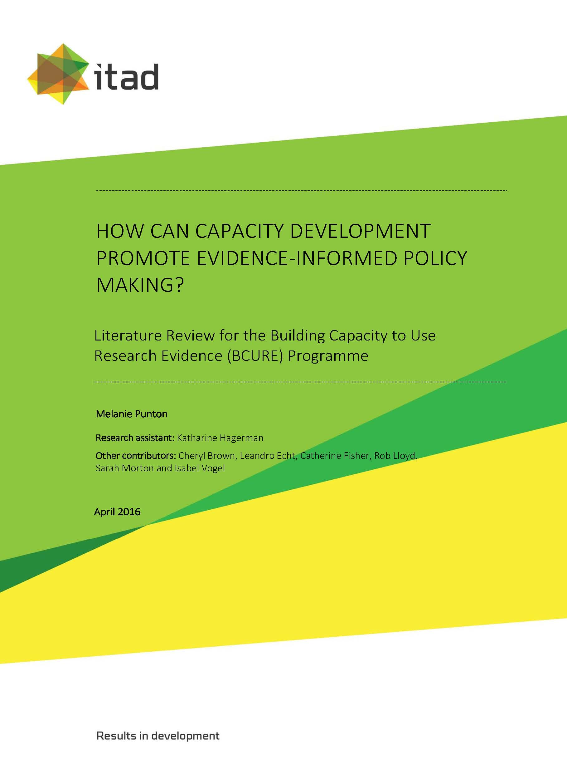 Literature Review | Bcure Literature Review How Can Capacity Development Promote
