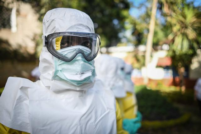 Ebola worker