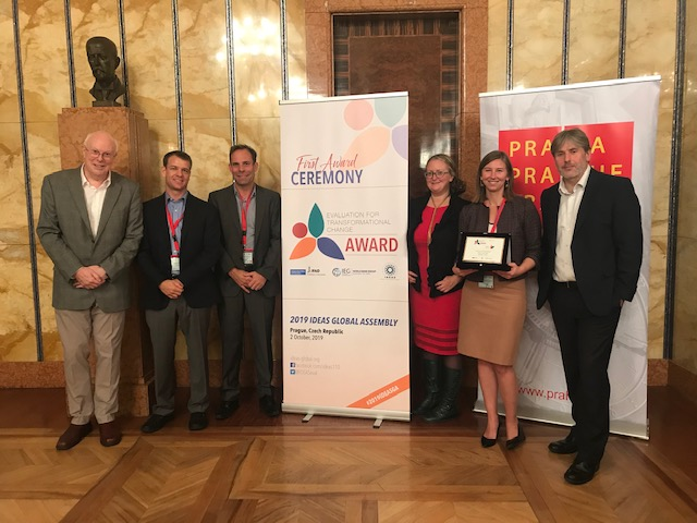 Members of the evaluation team and CIFF at the IDEAS award ceremony.