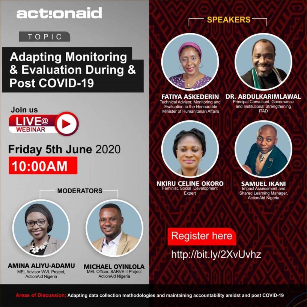 ActionAid Nigeria webinar panel