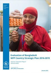 WFP Bangladesh Country Strategic Plan evaluation report cover